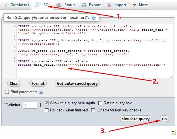 4 sql upita za migraciju wordpress sajta na drugi server i domen